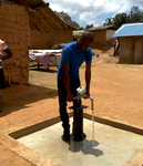 Hand Pump constructed at Nkapiem