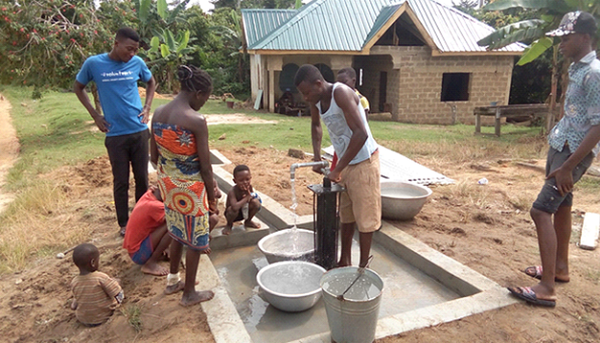 Pump Installation and Platform Constructed at Nyamebekyere Ahenkro